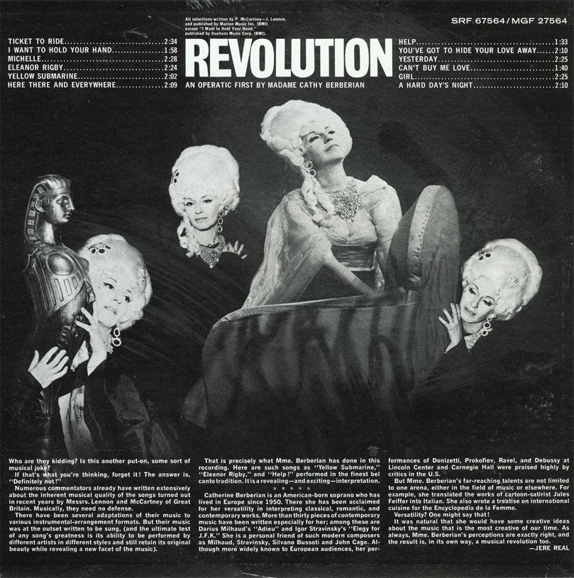 Beatles Arias LP - U.S. back cover